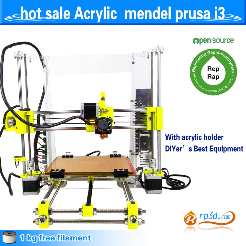 Clerance Sale! 3D printer DIY prusa i3 , hot gift with free fila